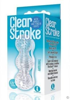 The 9 Clear Stroke Threeway Masturbator