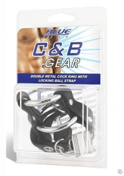 Cb Gear Double Metal Cock Ring W/strap
