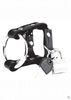 Cb Gear Metal Cock Ring W/locking Strap