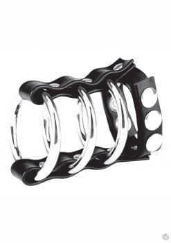 Cb Gear Triple Metal Cock Ring W/strap