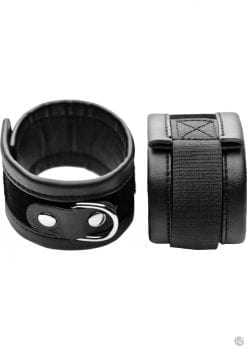 Frisky Black Faux Leather Fits Wrist 8 to 11.5 Inches  2 Inches width