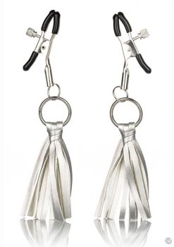 Nipple Play Tassels Nipple Clamp Silver