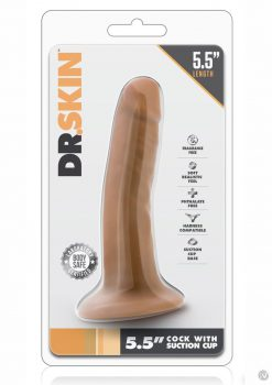 Dr Skin Cock W/suction 5.5 Mocha