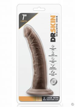 Dr. Skin Realistic Cock With Suction Cup Chocolate 7 Inch