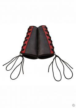 Saffron Gauntlet Cuffs Black/red