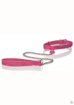 Tickle Me Pink Collar W/leash