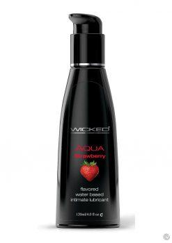 Wicked Aqua Strawberry Lube 4oz