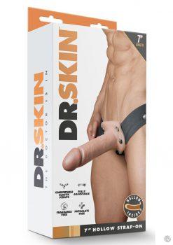 Dr Skin Hollow Strapon 7 Vanilla