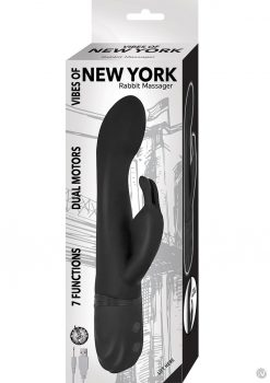 Vibes Of New York Rabbit Black Multi Function Silicone