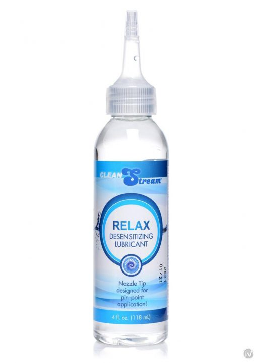 Clean Stream Relax Desensitizing Anal Lubricant With Nozzle Tip 4 Ounces