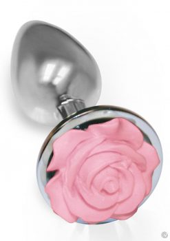 The 9 Silver Starter Rose Steel Plug Pnk