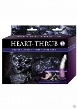Heart Throb Deluxe Harness Kit with Curved Dong Harness and Strap-on Adjustable