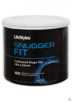 *Special Order* LifeStyles Snugger Fit Premium Lubricated Latex Condoms 40 Each Per Can