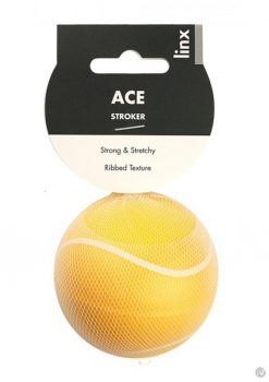 Linx Ace Stroker Ball Masturbator Ribbed Textured Waterproof Yellow