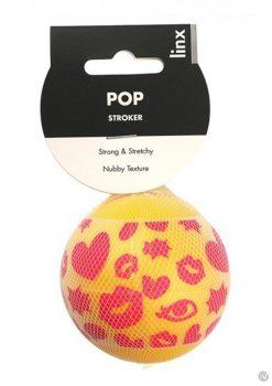 Linx Pop Stroker Ball Masturbator Nubby Textured Waterproof Yellow