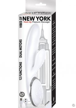 Vibes Of New York Heat Up Pleasure Massager USB Rechargeable Multi Function Vibrator White