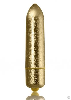 Rocks-Off 120mm Frosted Fleurs Multi Function Vibrating Bullet Waterproof Gold