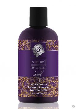 Sliquid Balance Soak Coconut Papaya Luxurious and Gentle Bubble Bath 8.5oz.
