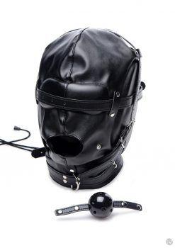 Strict Bondage Hood W/breath Ball Gag