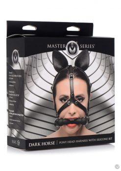 Ms Dark Horse Pony Head Harness W/bit
