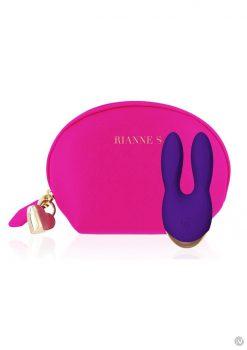Rianne S Bunny Bliss Deep Multi Speed Multifunction Vibrator Rechargeable Waterproof Purple