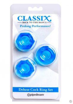 Classix Deluxe Cock Ring Set Blu