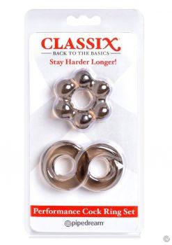 Classix Performance Cock Ring Set Smk