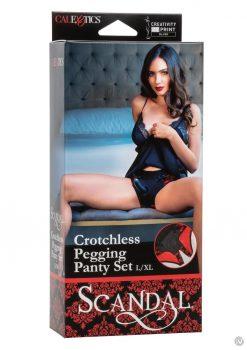 Scandal Crotchles Pegging Panty Set L/xl