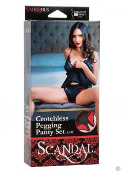 Scandal Crotchless Pegging Panty Set S/m