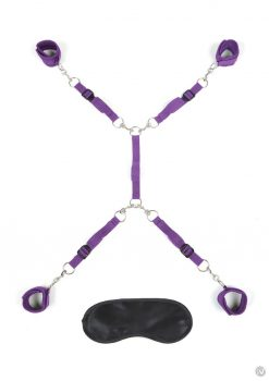 Lux F Bed Spreader 7pc Purple