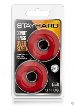Stay Hard Donut Rings Oversized Red