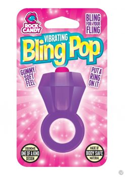 Rock Candy Bling Pop Ring Purple