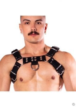 Prowler Red Butch Harness Prem Blk Sm