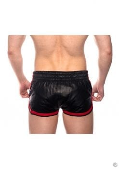 Prowler Red Leather Sport Shorts Red Xl