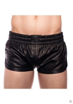 Prowler Red Leather Sport Shorts Blk Xl
