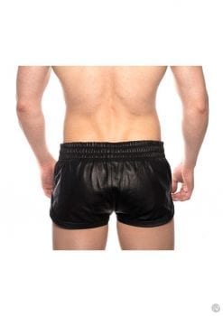 Prowler Red Leather Sport Shorts Blk Md