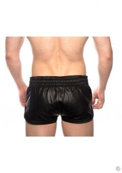 Prowler Red Leather Sport Shorts Blk Lg