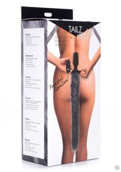 Tailz Vibrating Grey Fox Tail