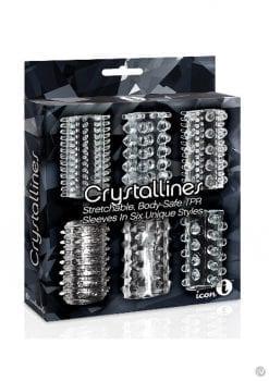 The 9 Crystalline Cock Sleeve 6pk