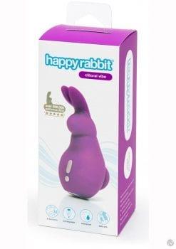 Happy Rabbit Mini Ears Finger Vibe Multi Function USB Rechargeable Waterproof Purple