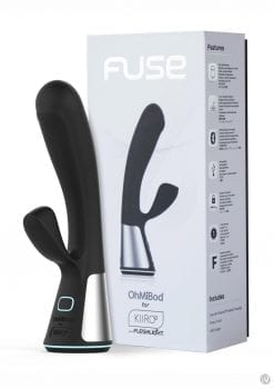 Kiiroo OhMiBod Fuse Interactive Dual Stimulating Massager Vibe Black