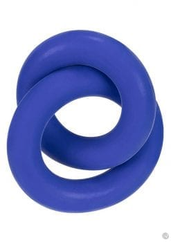 Hunkyjunk Duo Silicone Blend Double Cock Ring Cobalt
