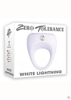 Zero Tolerance White Lightning Vibrating Cockring Waterproof