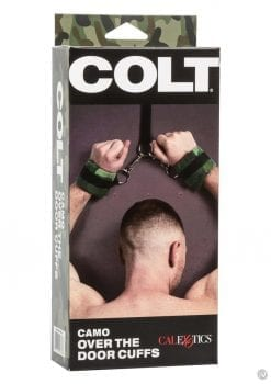 Colt Camo Over The Door Cuffs Adjustable Bondage