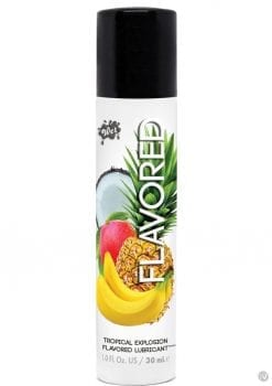 Wet Flavored Water Based Gel Lubricant Tropical Explosion 1 Ounce