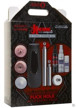 Kink Power Banger Fuck Hole Accessory Pack 10 Piece Stroker Kit