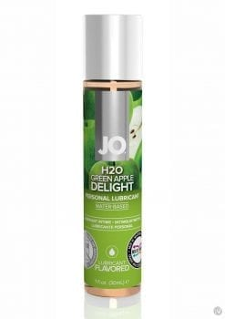 Jo H2O Water Based Flavored Lubricant Green Apple Delight 1 Ounce
