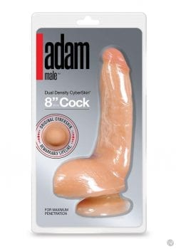 Adam Male Dual Density CyberSkin Cock Flesh 8 Inch