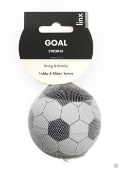 Linx Goal Stroker Ball Maturbator Nubby and Ribbed Textured Waterproof Clear/Black