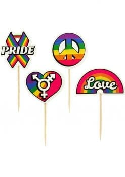 Party Picks Pride Party Toothpick Toppers 24 Each Per Pack
